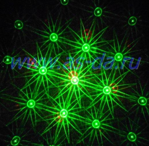лазер красный зеленый