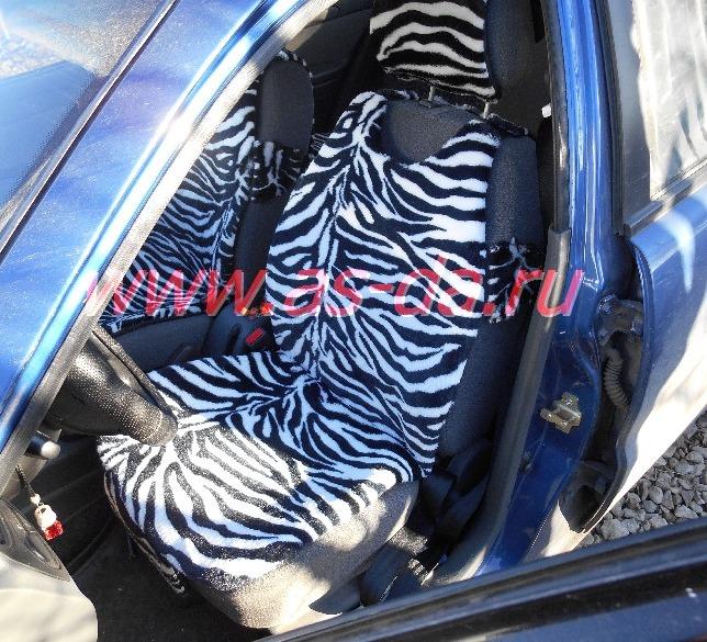 меховая накидка зебра на сиденье